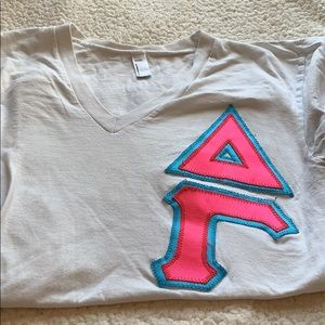Delta Gamma T-shirt with Sewn Greek Letters